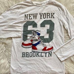 ZARA BOYS New York long-sleeve tee • Size 11/12
